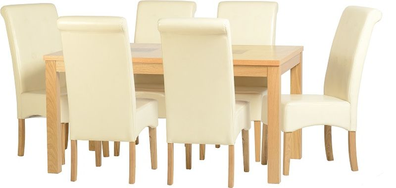 Wexford 59 inch Dining Set - G10 - OAK/WALNUT/CREAM