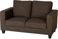 See more information about the Tempo Two Seater Sofa in a box - Dark Brown Fabric