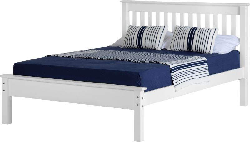 Monaco King Size Bed - White