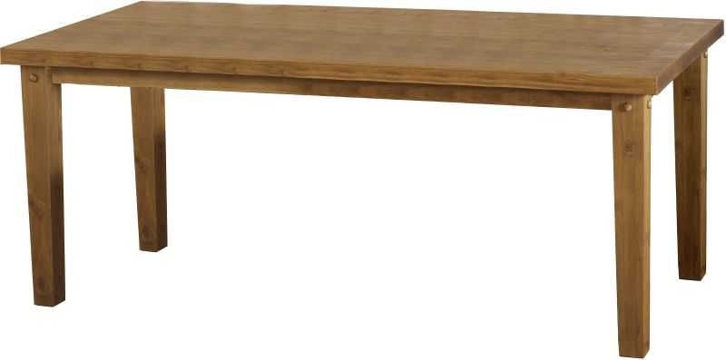 Tortilla 6' Dining Table in Distressed Waxed Pine