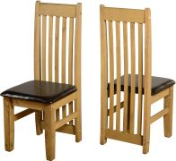 See more information about the Tortilla Chair (PAIR) in Distressed Waxed Pine/Expresso Brown PU