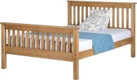 See more information about the Monaco Double Bed - Distressed Waxed Pine