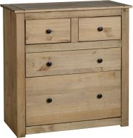 See more information about the Panama 2+2 Drawer Chest in Natural Wax