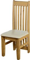 See more information about the Tortilla Chair (PAIR) in Distressed Waxed Pine/Cream PU