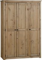 See more information about the Panama 3 Door Wardrobe in Natural Wax