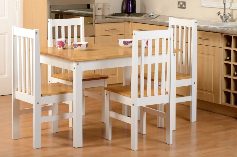 Ludlow Dining Set in Oak/White