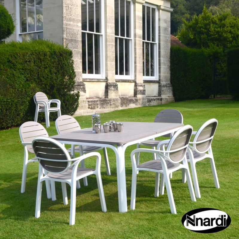 Alloro Garden Furniture Set & 6 Turtle Dove Palma Chairs