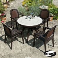 See more information about the Toscana 100 Garden Furniture Set (Supplied with 4 Coffee coloured Beta Chairs)