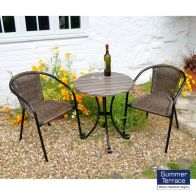 See more information about the Kalmar Garden Furniture Bistro Set & 2 Chairs