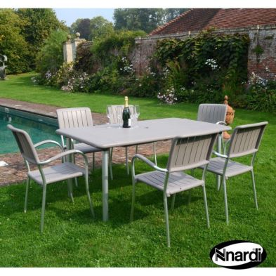 Maestrale Garden Furniture Set (Supplied with 6 Turtle Dove coloured Musa Chairs)