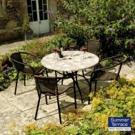 See more information about the Nnardi Romano 90 Patio Garden Furniture Set & 4 San Remo Chairs