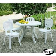 See more information about the Toscana Garden Furniture Set (Supplied with 4 White Elba Chairs)