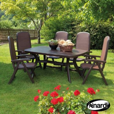 Toscana Garden Furniture Set (supplied with 6 Coffee Delta Chairs)