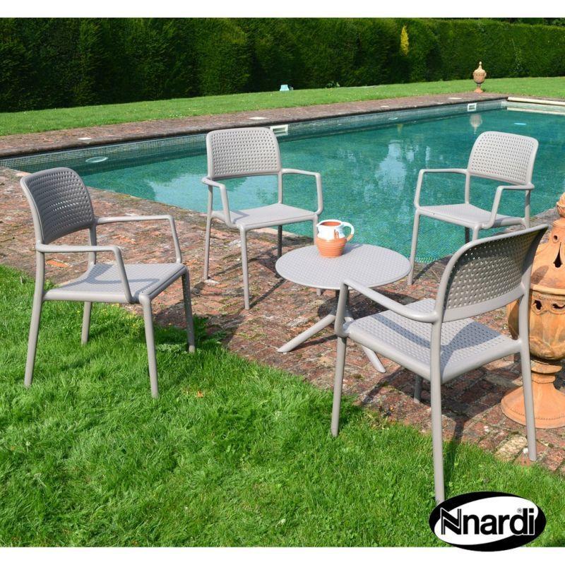 Coffee Table Garden Set: Coffee Table Garden Set & 4 Turtle Dove Bora Chairs