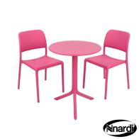 See more information about the Pink Step Garden Bistro Set & 2 Pink Bistro Chairs