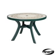 See more information about the Toscana 120 Outdoor Garden Table Green (Ravenna style top)
