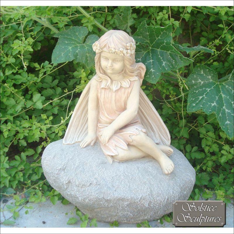 Blossom Fairy Garden Ornament Statue, Fairy Garden Statues Uk