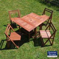 See more information about the Oslo Hideaway Hardwood Garden Furniture Set (supplied with 4 chairs)