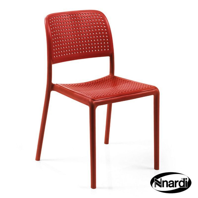 Nnardi Bistro Outdoor Chair Red