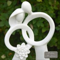 See more information about the Just Married Garden Ornament Statue white XST/431
