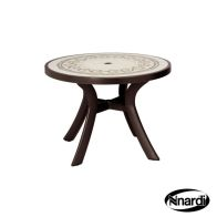 See more information about the Nnardi Toscana 100 Outdoor Garden Table (Coffee colour with Ravenna style top)