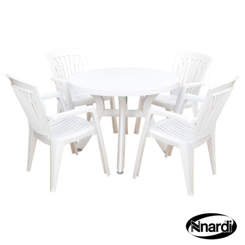 Toscana 100 White Garden Furniture Set, White Garden Furniture