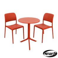 See more information about the Red Step Garden Bistro Set (supplied with 2 Red Bistro Chairs)