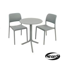 See more information about the Step Garden Bistro Set & 2 Sky Blue Bistro Chairs