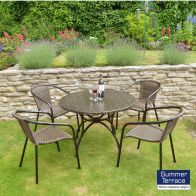 See more information about the Nnardi Fleuretta 90 Garden Patio Set & 4 San Remo Chairs