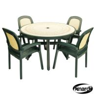 See more information about the Nnardi Toscana 120 Garden Furniture Set (Ravenna style with 4 Green Beta Chairs)