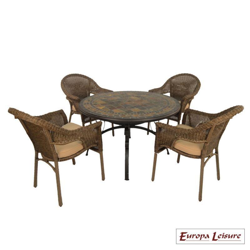 Santa Maria Garden Furniture Set 4 Bavaria Chairs Buy Online At Qd Stores