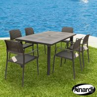 See more information about the Libeccio Garden Furniture Set & 6 Anthracite Bora Chairs
