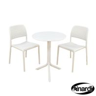 See more information about the Step Garden Bistro Set & 2 White Bistro Chairs