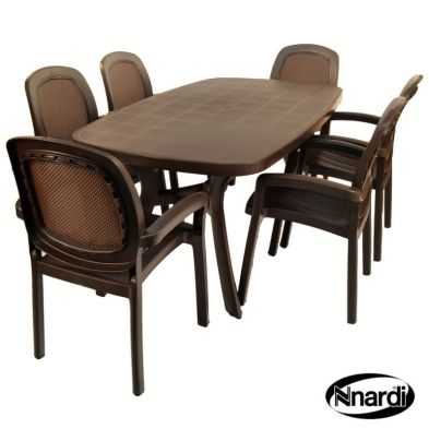 Toscana 165 Garden Furniture Set (Supplied with 6 Coffee colour Beta Chairs)