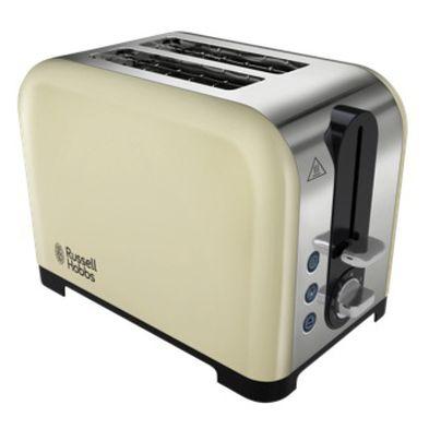 Image of Russell Hobbs Canterbury 2 Slice Toaster - Cream