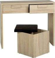 See more information about the Cambourne 2 Drawer Dressing Table Set - SONAMO OAK