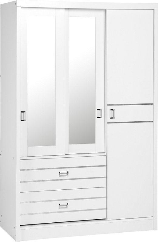 Bedroom Wardrobes Jordan 3 Door 2 Drawer Sliding Mirrored Wardrobe
