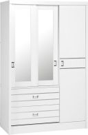 See more information about the Jordan 3 Door 2 Drawer Sliding Mirrored Wardrobe