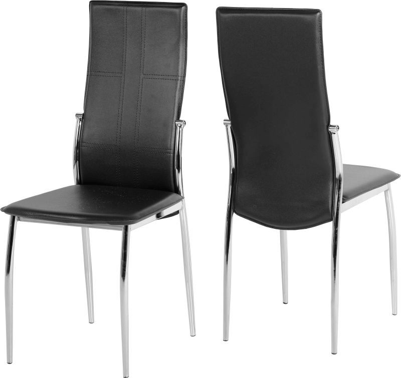 Berkley Dining Chair - BLACK\CHROME STEEL