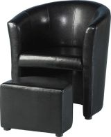 See more information about the Tempo Tub Chair with Footstool - BLACK