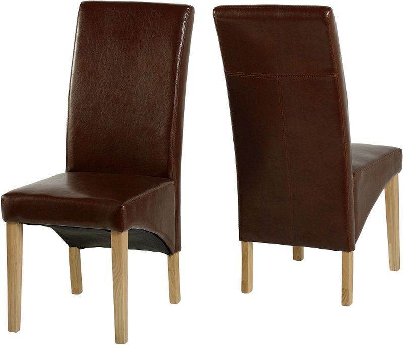 G1 Dining Chair in Mid Brown PU