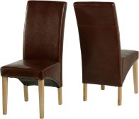 See more information about the G1 Dining Chair in Mid Brown PU