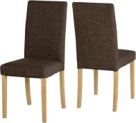 See more information about the G3 Dining Chair - DARK BROWN FABRIC