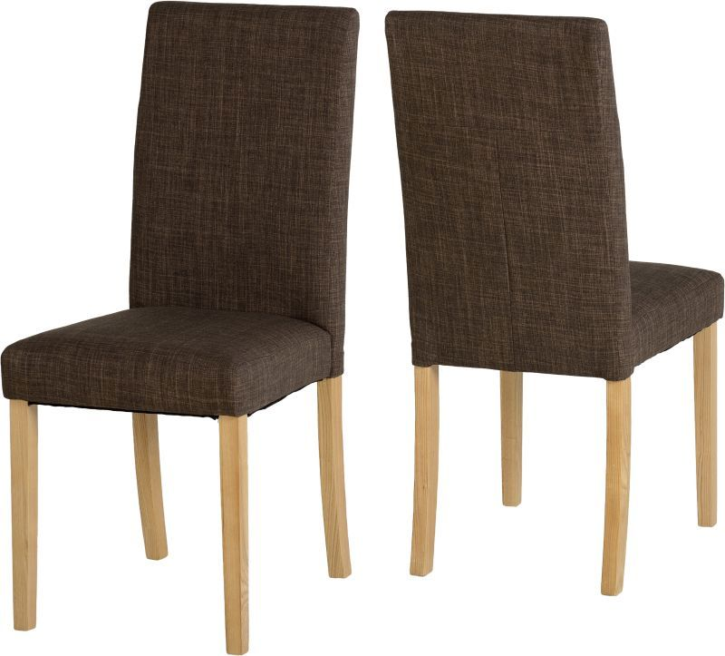 G3 Dining Chair - DARK BROWN FABRIC