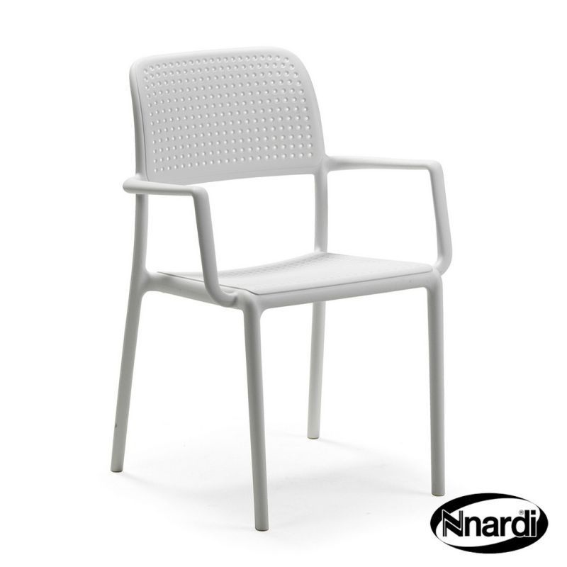 Nnardi Bora Outdoor Garden Chair White