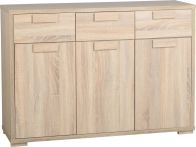 See more information about the Cambourne 3 Door 3 Drawer Sideboard in Sonoma Oak Effect Veneer