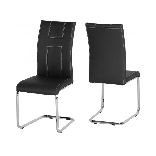 See more information about the A2 Chair in Black PU\Chrome