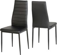 See more information about the Abbey Dining Chair in Black PU