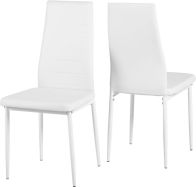 See more information about the Abbey Dining Chair in White PU