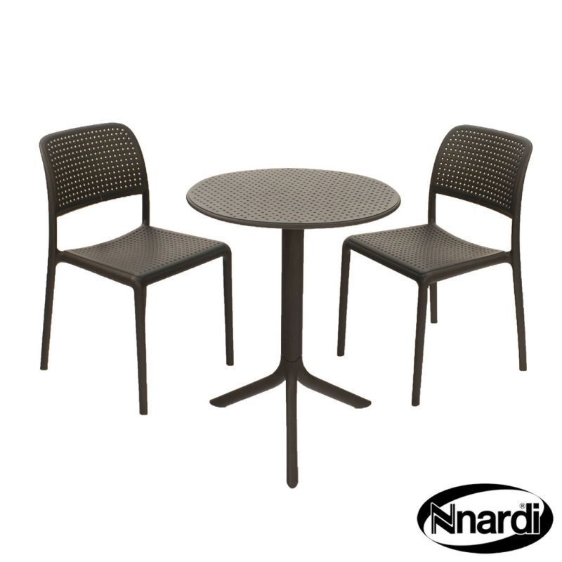 Anthracite Step Standard & 02 Anthracite Bistro Chairs